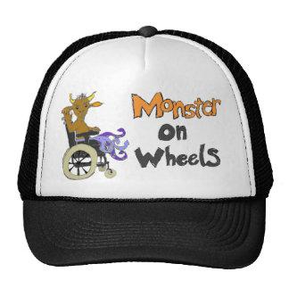 Monstruo en las ruedas gorros bordados