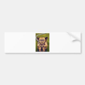 Monstruo en un correo etiqueta de parachoque