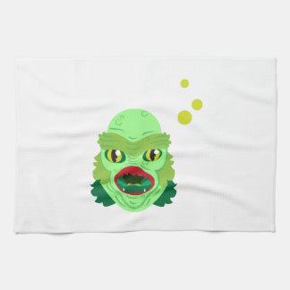 Monstruo extranjero toallas de mano