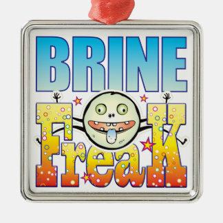 Monstruo extraño de Brine Adorno Cuadrado Plateado