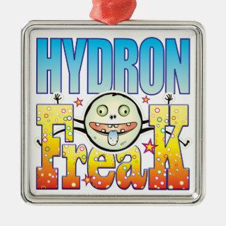 Monstruo extraño de Hydron Adorno Cuadrado Plateado