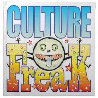 Monstruo extraño de la cultura servilletas imprimidas