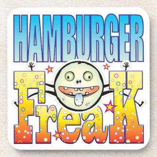 Monstruo extraño de la hamburguesa posavasos de bebida