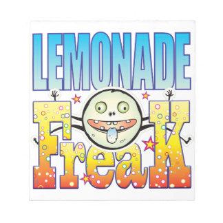 Monstruo extraño de la limonada bloc de notas