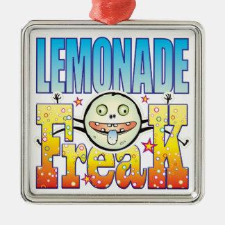 Monstruo extraño de la limonada adorno cuadrado plateado