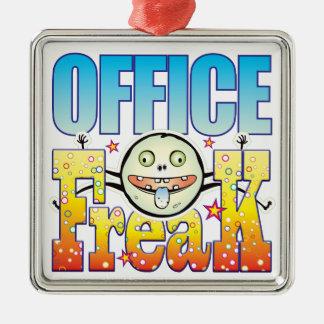 Monstruo extraño de la oficina adorno cuadrado plateado