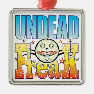 Monstruo extraño de los Undead Adorno Cuadrado Plateado