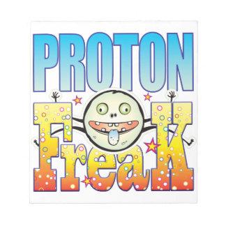 Monstruo extraño de Proton Blocs De Notas