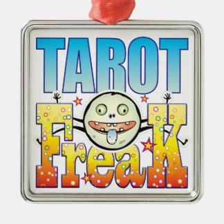 Monstruo extraño de Tarot Adorno Cuadrado Plateado