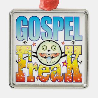 Monstruo extraño del evangelio adorno cuadrado plateado