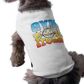 Monstruo extraño del gimnasio playera sin mangas para perro