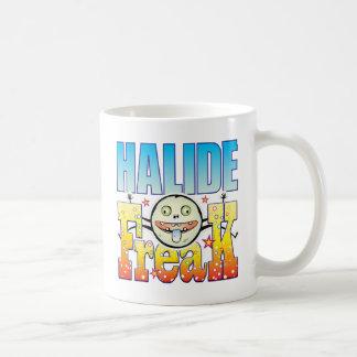 Monstruo extraño del haluro taza básica blanca