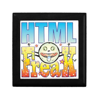 Monstruo extraño del HTML Joyero Cuadrado Pequeño