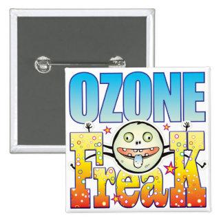 Monstruo extraño del ozono pin cuadrada 5 cm