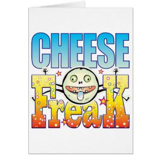 Monstruo extraño del queso tarjeta de felicitación