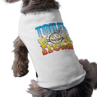 Monstruo extraño del retrete camiseta sin mangas para perro
