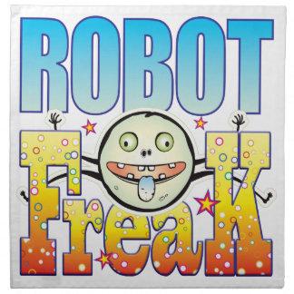 Monstruo extraño del robot servilleta