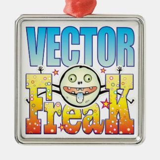 Monstruo extraño del vector adorno cuadrado plateado