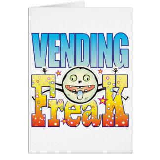 Monstruo extraño Vending Tarjeta De Felicitación
