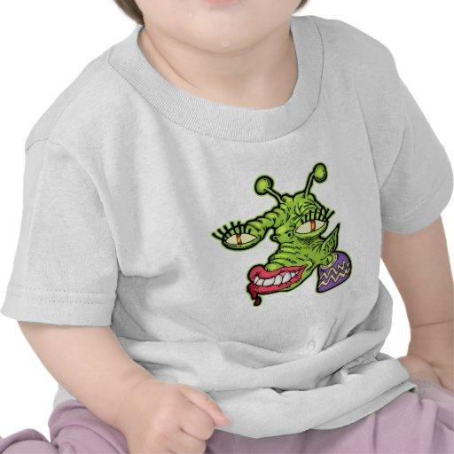 Monstruo femenino del reptil camisetas