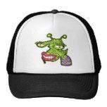 Monstruo femenino del reptil gorras