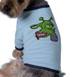 Monstruo femenino del reptil ropa de perro