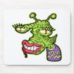 Monstruo femenino del reptil tapete de raton