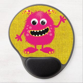 Monstruo femenino rosado retro alfombrillas de raton con gel