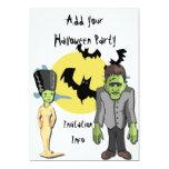 Monstruo Frankenstein de las invitaciones del Invitación 12,7 X 17,8 Cm