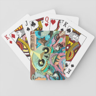 Monstruo grafiti carta de juego barajas de cartas