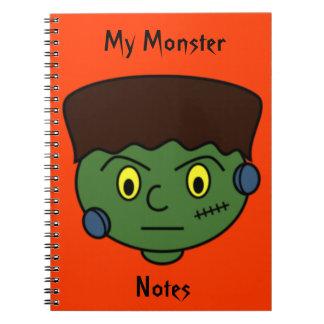 Monstruo joven de Frankenstein Libreta Espiral