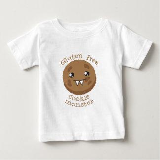 Monstruo libre de la galleta del gluten playera de bebé