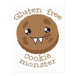 Monstruo libre de la galleta del gluten postales