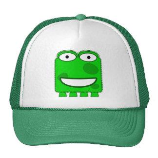 Monstruo lindo del dibujo animado de la verde lima gorros