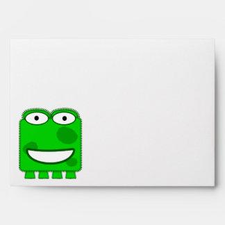 Monstruo lindo del dibujo animado de la verde lima