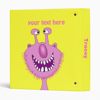"""Monstruo lindo rosado sonriente con la barba carpeta 1"""""""
