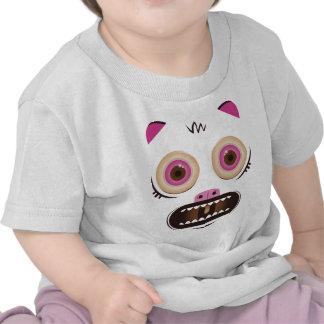 Monstruo loco divertido camisetas