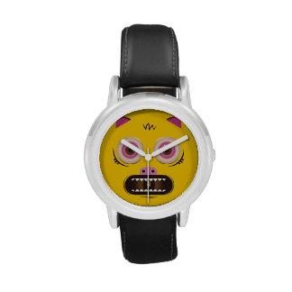 Monstruo loco divertido relojes de mano
