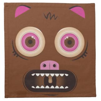 Monstruo loco divertido servilletas de papel