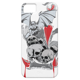 Monstruo malvado asustadizo del vampiro del cráneo funda para iPhone 5 barely there