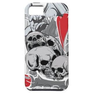 Monstruo malvado asustadizo del vampiro del cráneo iPhone 5 funda