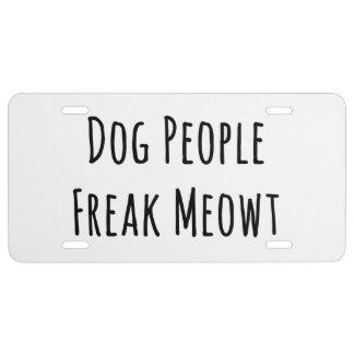 Monstruo Meowt de la gente del perro (para los Placa De Matrícula