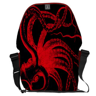 Monstruo náutico de Kraken del vintage de Steampun Bolsa Messenger