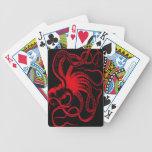 Monstruo náutico de Kraken del vintage de Steampun Baraja Cartas De Poker