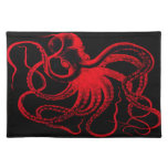 Monstruo náutico de Kraken del vintage de Steampun Manteles