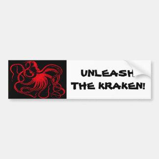 Monstruo náutico de Kraken del vintage de Steampun Pegatina Para Auto