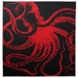 Monstruo náutico de Kraken del vintage de Steampun Servilletas