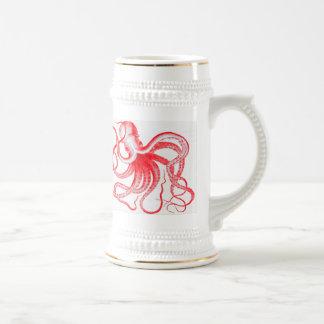 Monstruo náutico de Kraken del vintage de Steampun Jarra De Cerveza