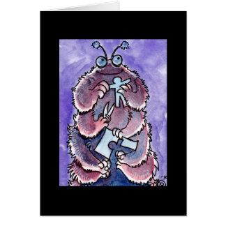 Monstruo Notecard de Caterpillar Felicitación