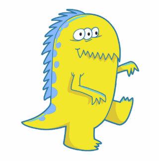 monstruo observado de Dino del amarillo tres Esculturas Fotográficas